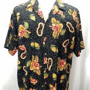 Hilo Hattie 1980s Hawaiian Button Down Shirt